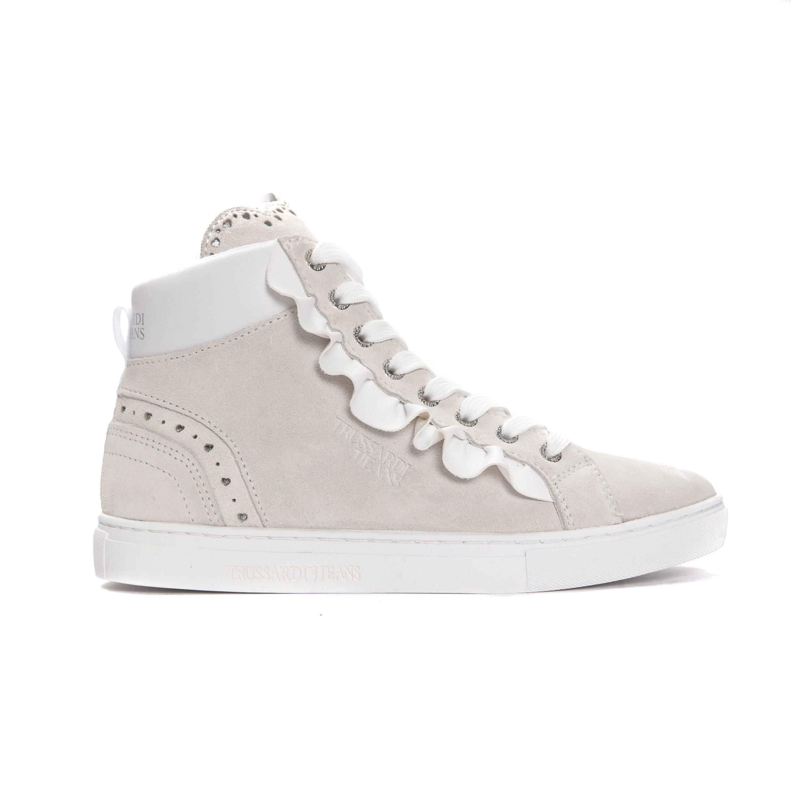 Trussardi Jeans Women's Bianco Trainer White TR662821 - EU35/US4.5