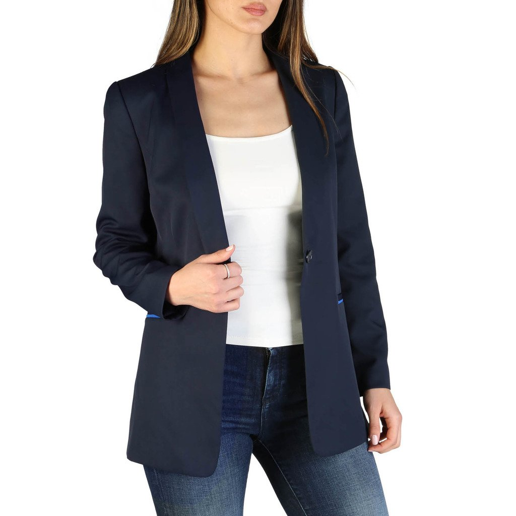 Armani Exchange Women's Formal Jacket Blue 3ZYG01_YNARZ - blue 12