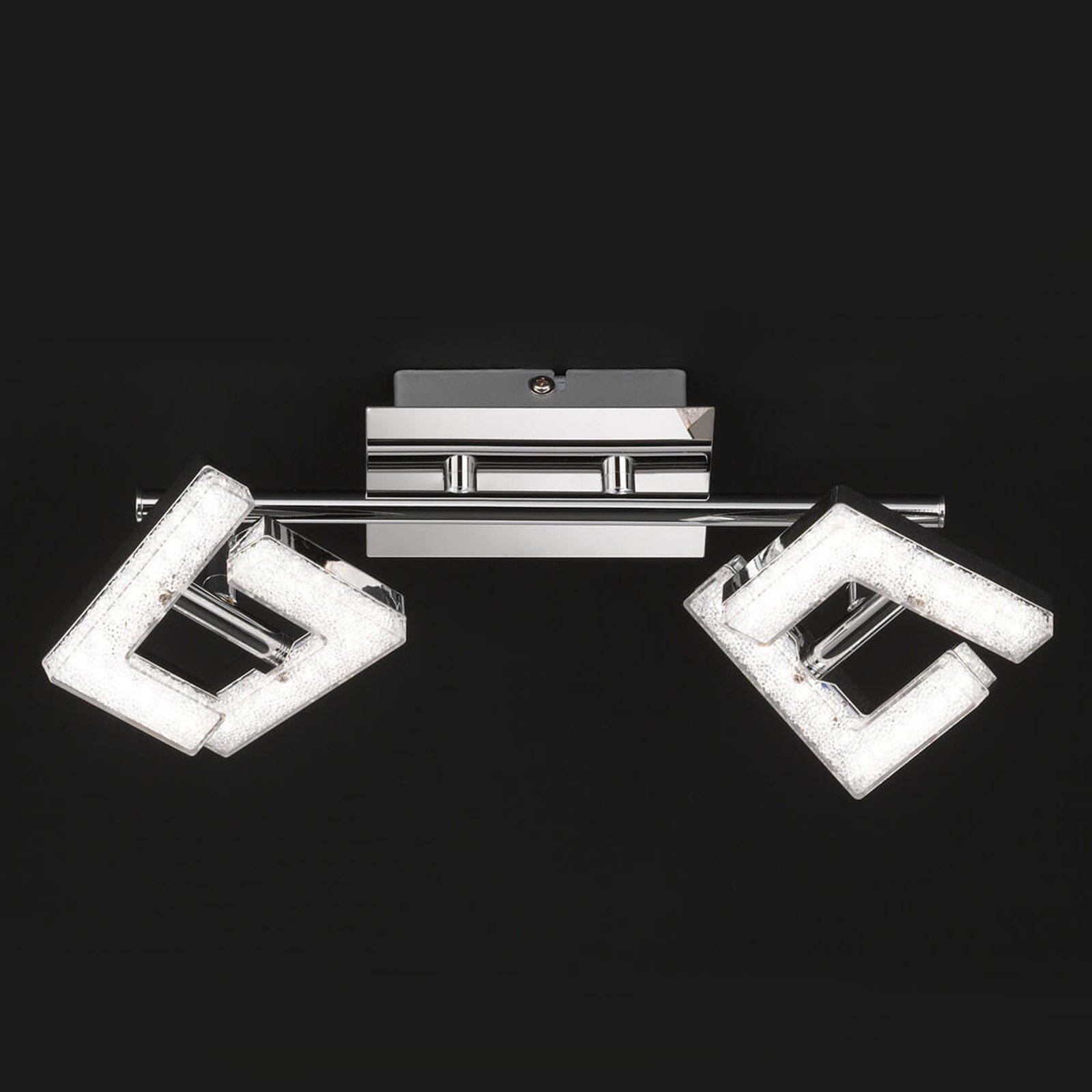 Justerbar LED-taklampe LEA med krystalleffekt