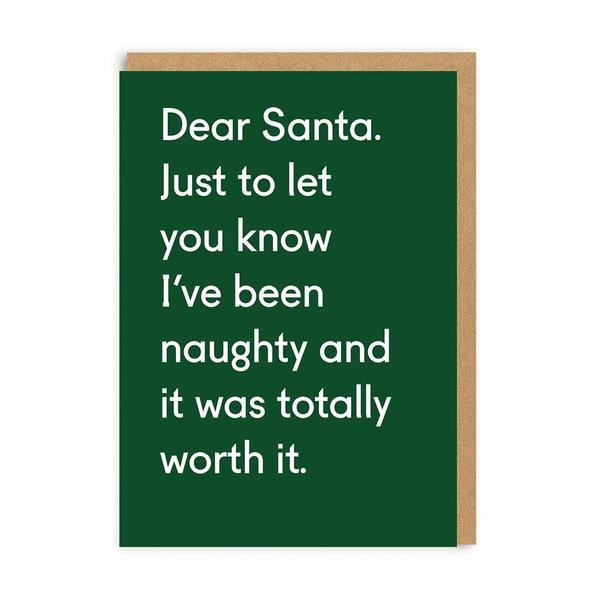 Naughty And Totally Worth It Christmas Card