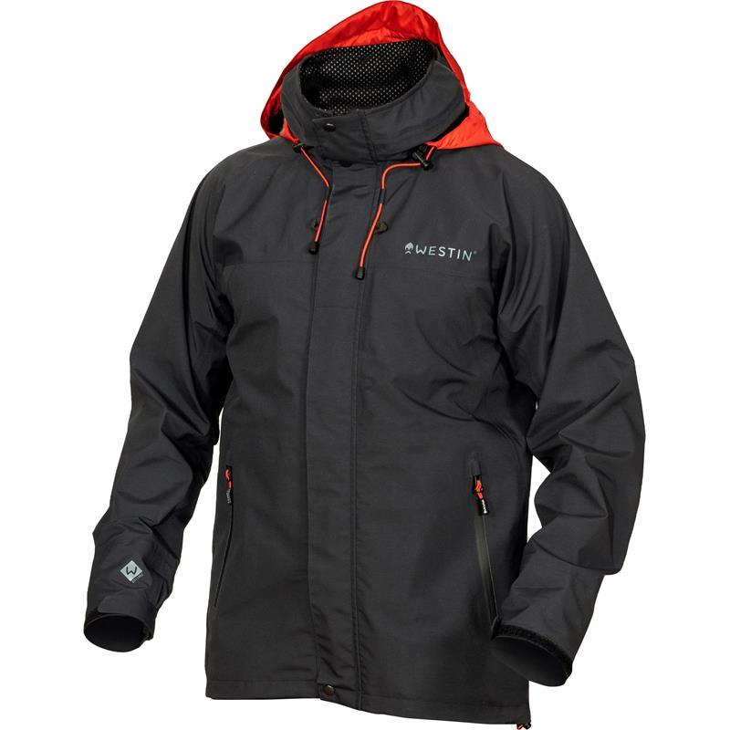 Westin W6 Rain Jacket S Regnjakke - Steel Black