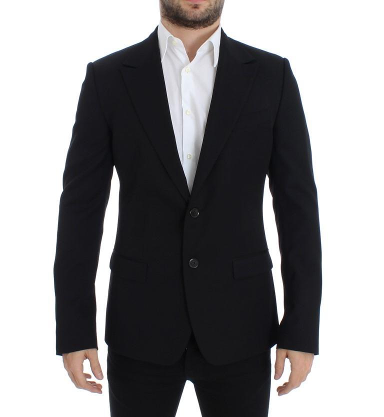 Dolce & Gabbana Men's wool slim fit Blazer Black SIG12303 - IT48   M