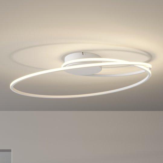 Lindby Xenias -LED-kattovalo, valk., 60 x 35 cm