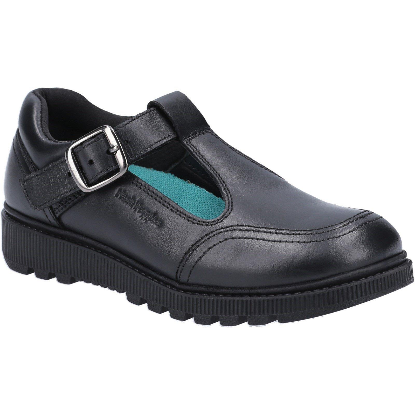 Hush Puppies Kid's Kerry Senior School Shoe Black 30818 - Black 3