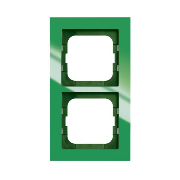 ABB Axcent Kombinasjonsramme grønn 2 rom