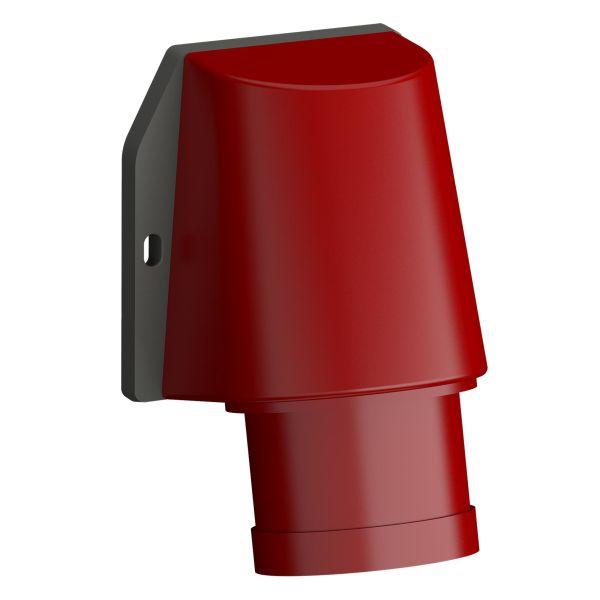 ABB 2CMA102392R1000 Vegginntak hurtigtilkoblet, vibrasjonsbestandig Rød, 32 A, 5-polet, IP44