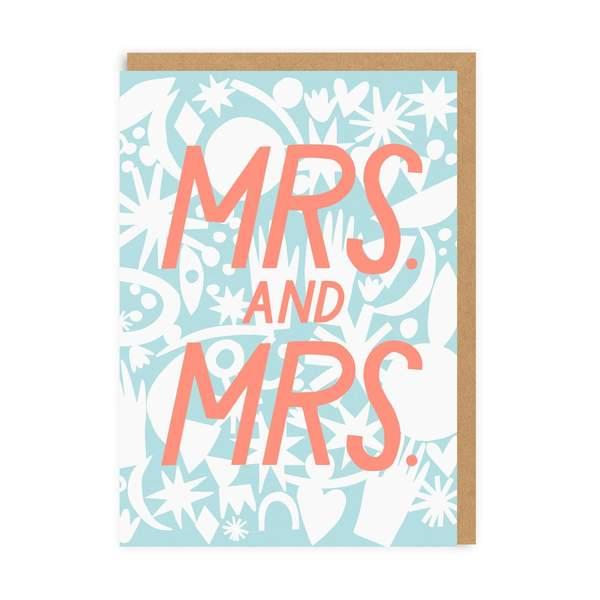 Mrs & Mrs Wedding Greeting Card
