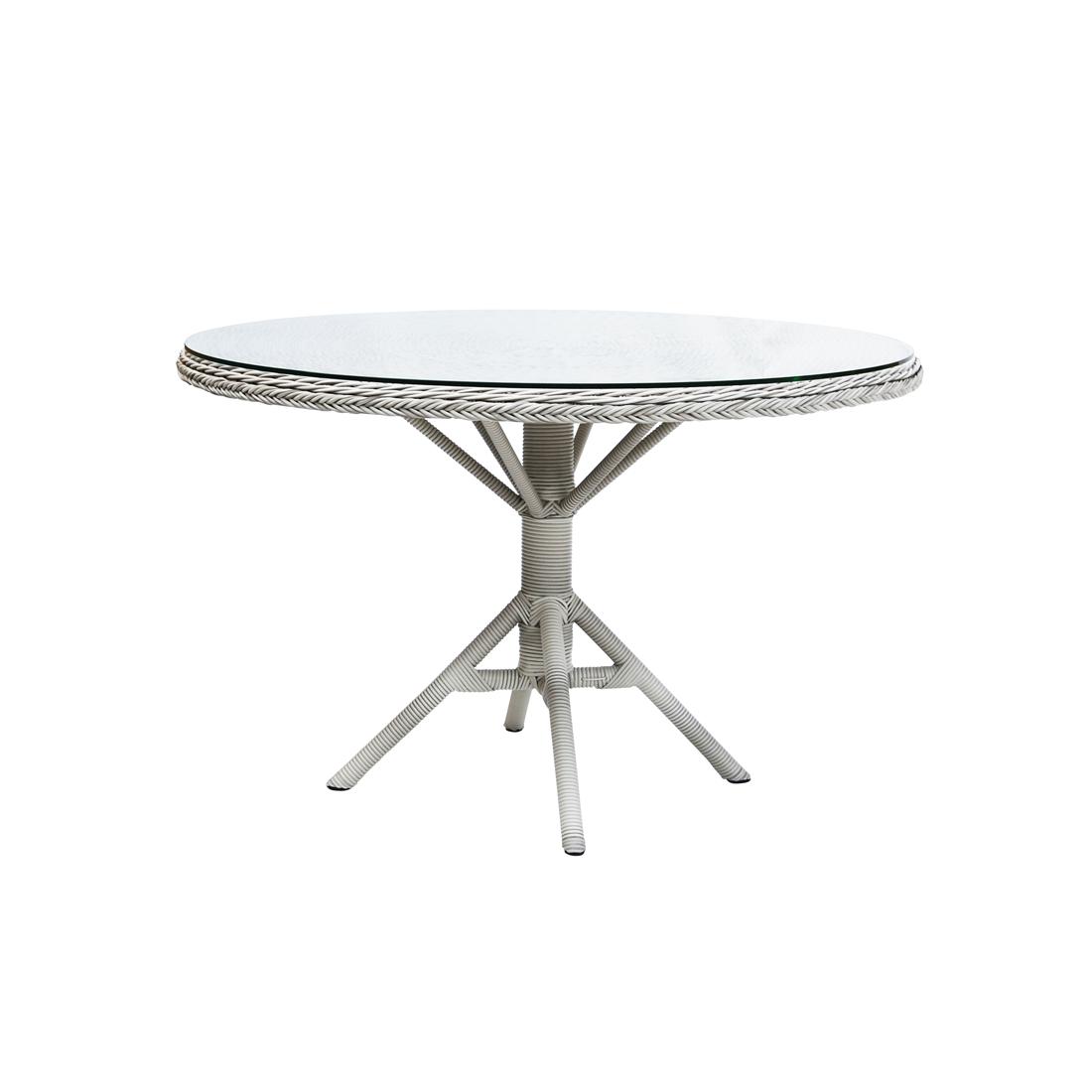 Grace matbord m / glastopp Vintage white, Sika-design