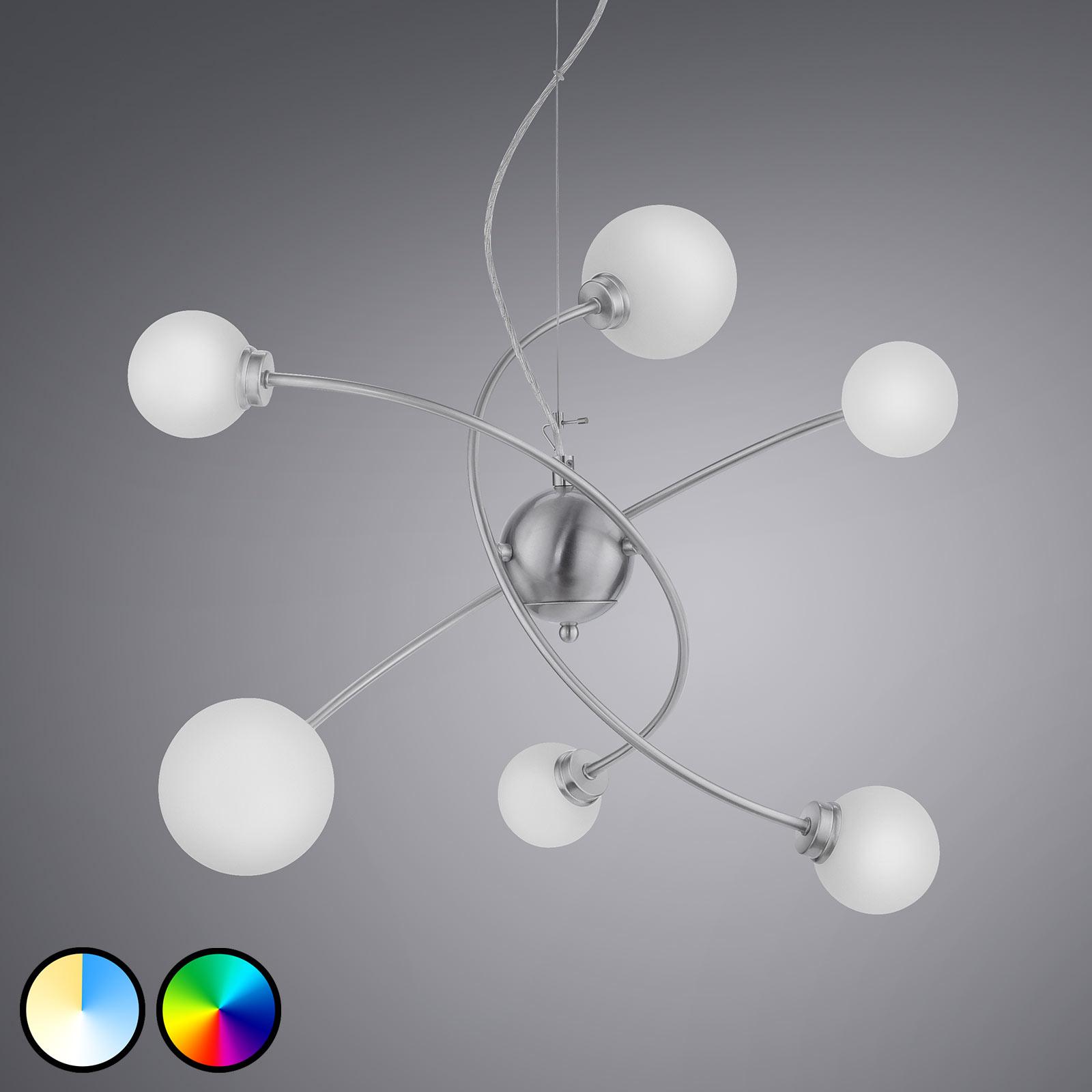 Trio WiZ Dicapo -LED-riippuvalaisin, 6-lamppuinen