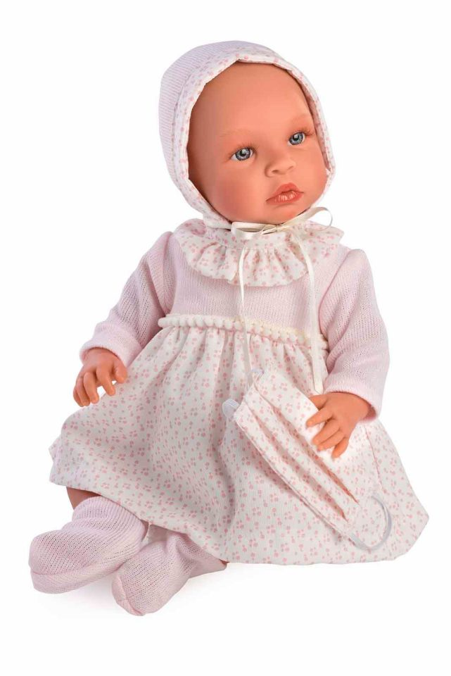 Asi dolls - Leonora doll in rose dress with flowers, 46 cm (24184930)