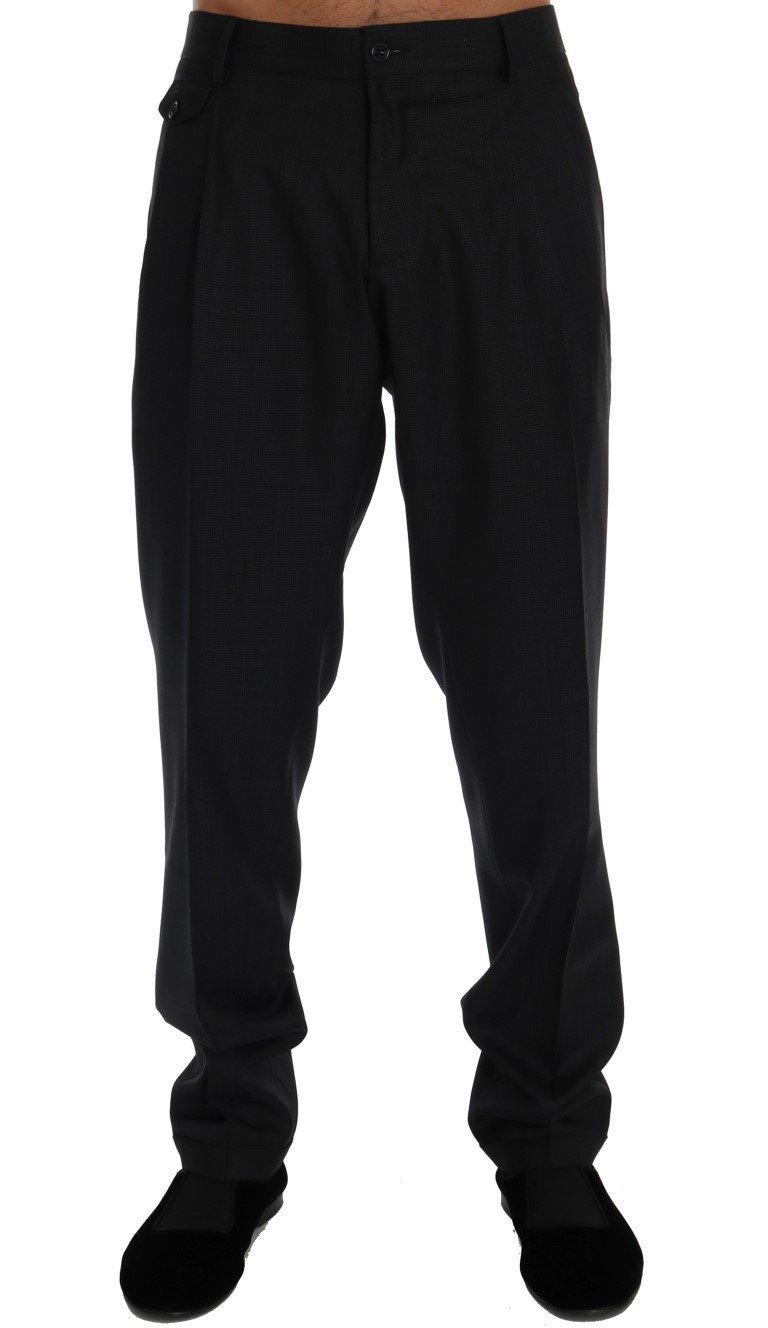 Dolce & Gabbana Men's Wool Stretch Trouser Blue PAN60326 - IT52   XL