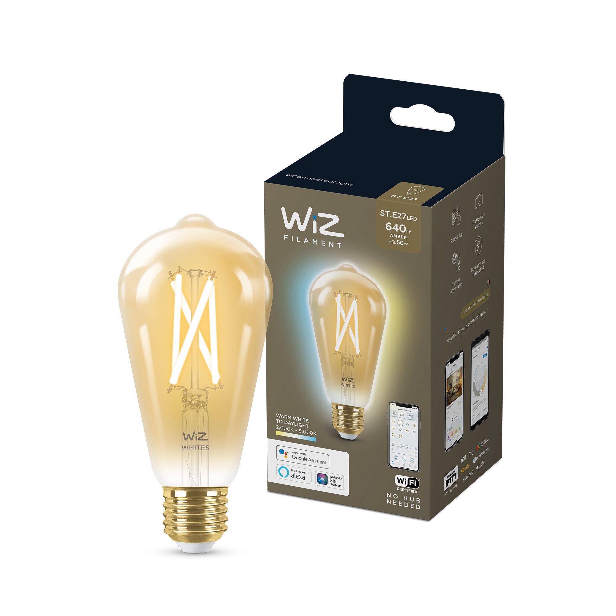 WiZ - ST64 Amber bulb E27 Tunable white - Smart Home