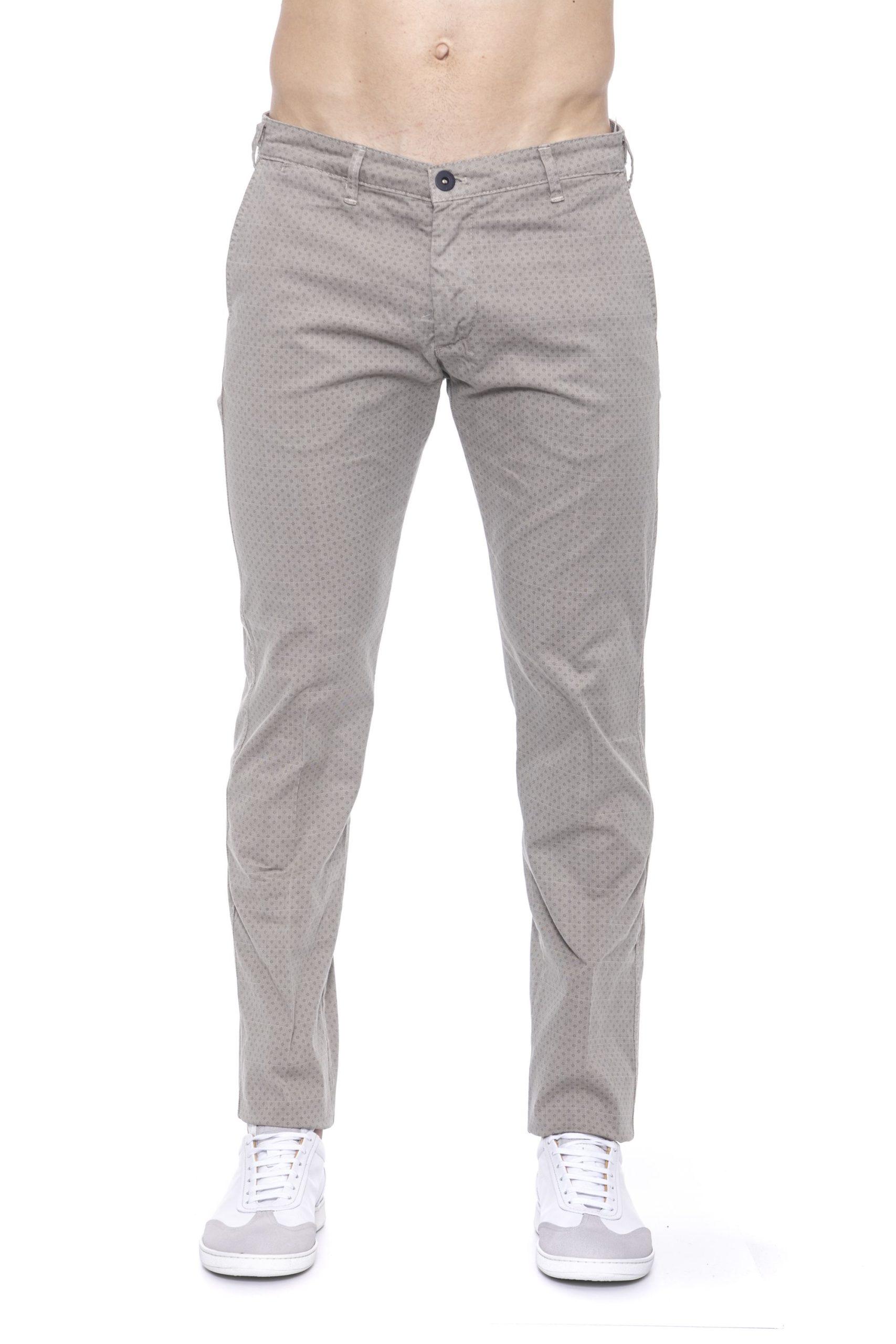 Armata Di Mare Men's Micro-pattern Jeans Beige AR1394871 - IT54   XL