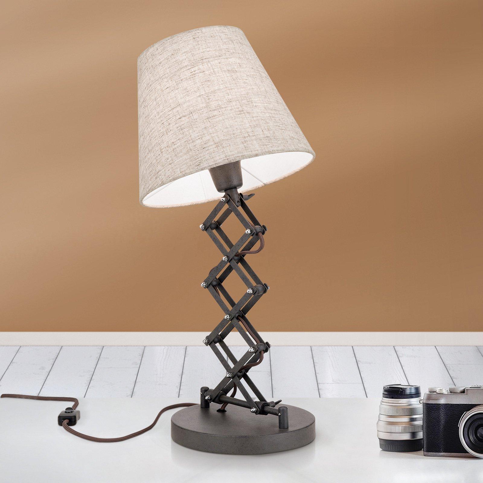 Bordlampe Factory i industristil