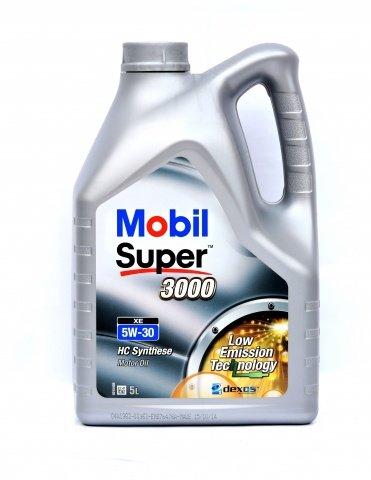 Moottoriöljy MOBIL 5W30 SUPER 3000 XE 5L