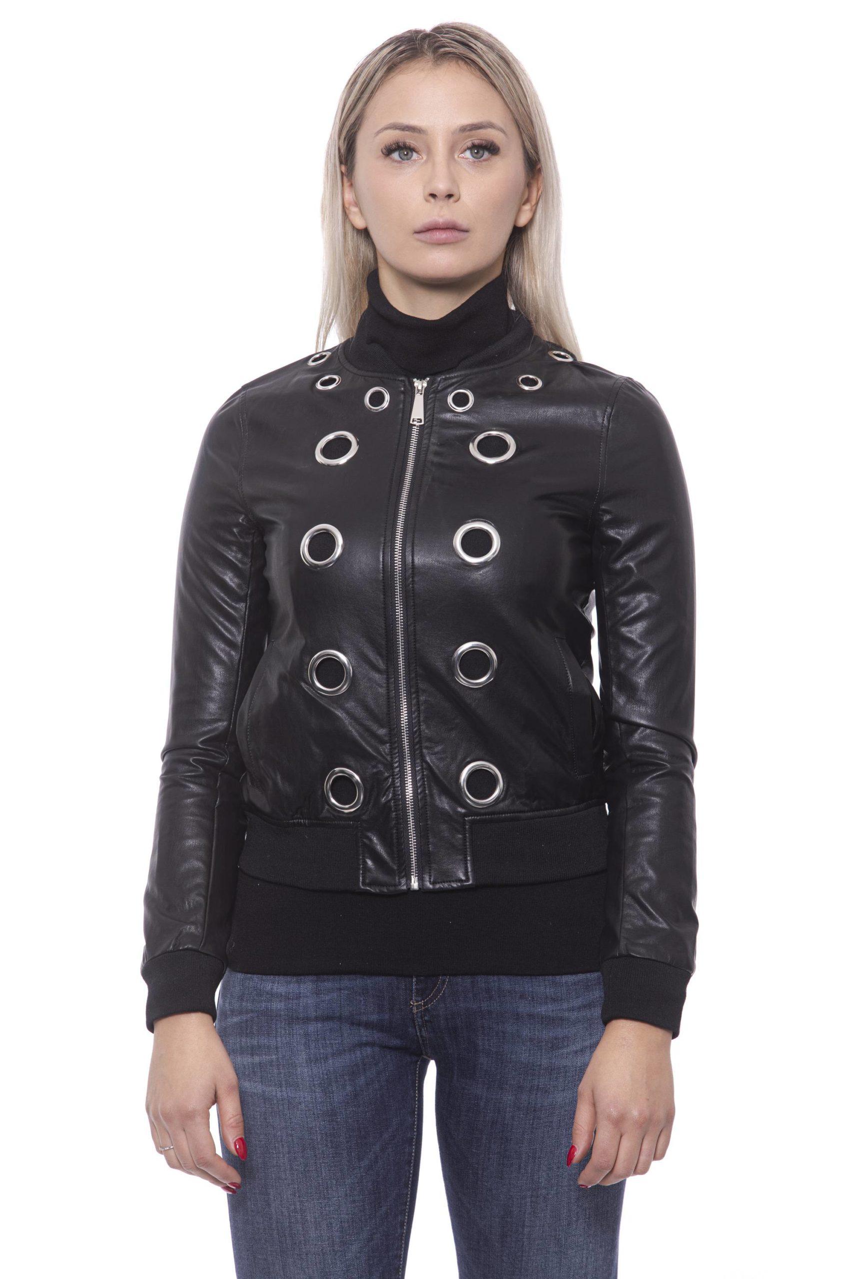 19V69 Italia Women's Nero Jacket 191388248 - IT42 | S