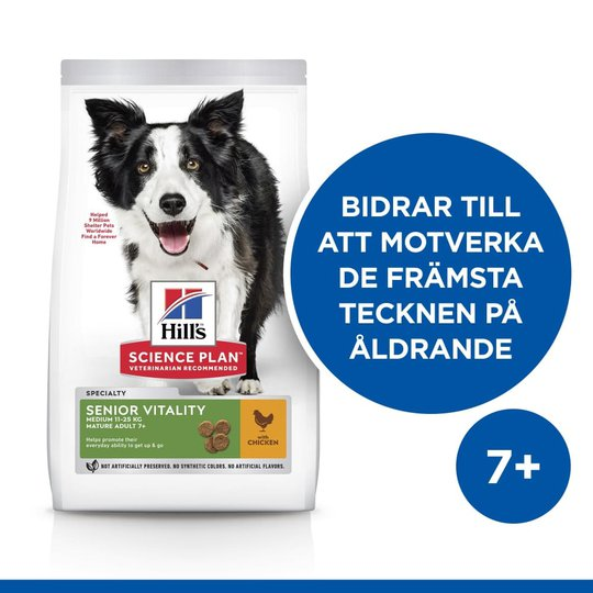 Hill's Science Plan Dog Mature Adult 7+ Senior Vitality Medium Chicken (2,5 kg)