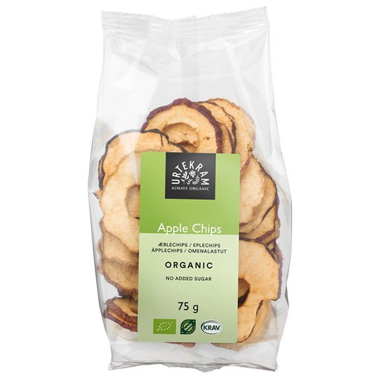 Urtekram Food Ekologiska Äppelchips, 75 g