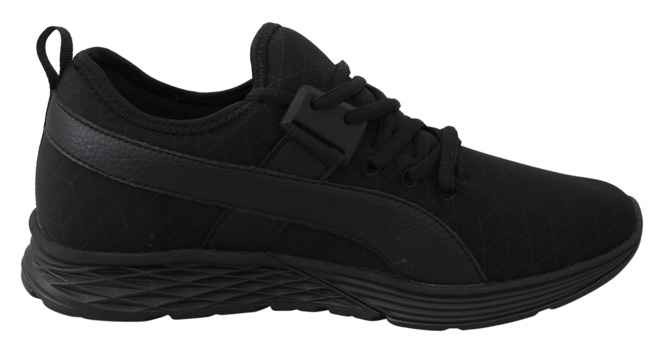 Black Polyester Christopher Sneakers Shoes - EU42/US9