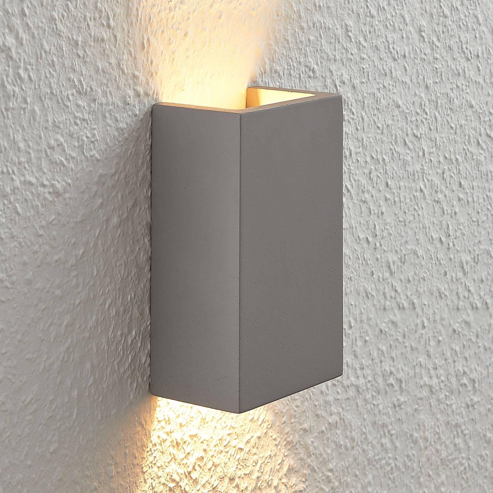 Betoninen seinävalaisin Smira harmaa 11x18 cm