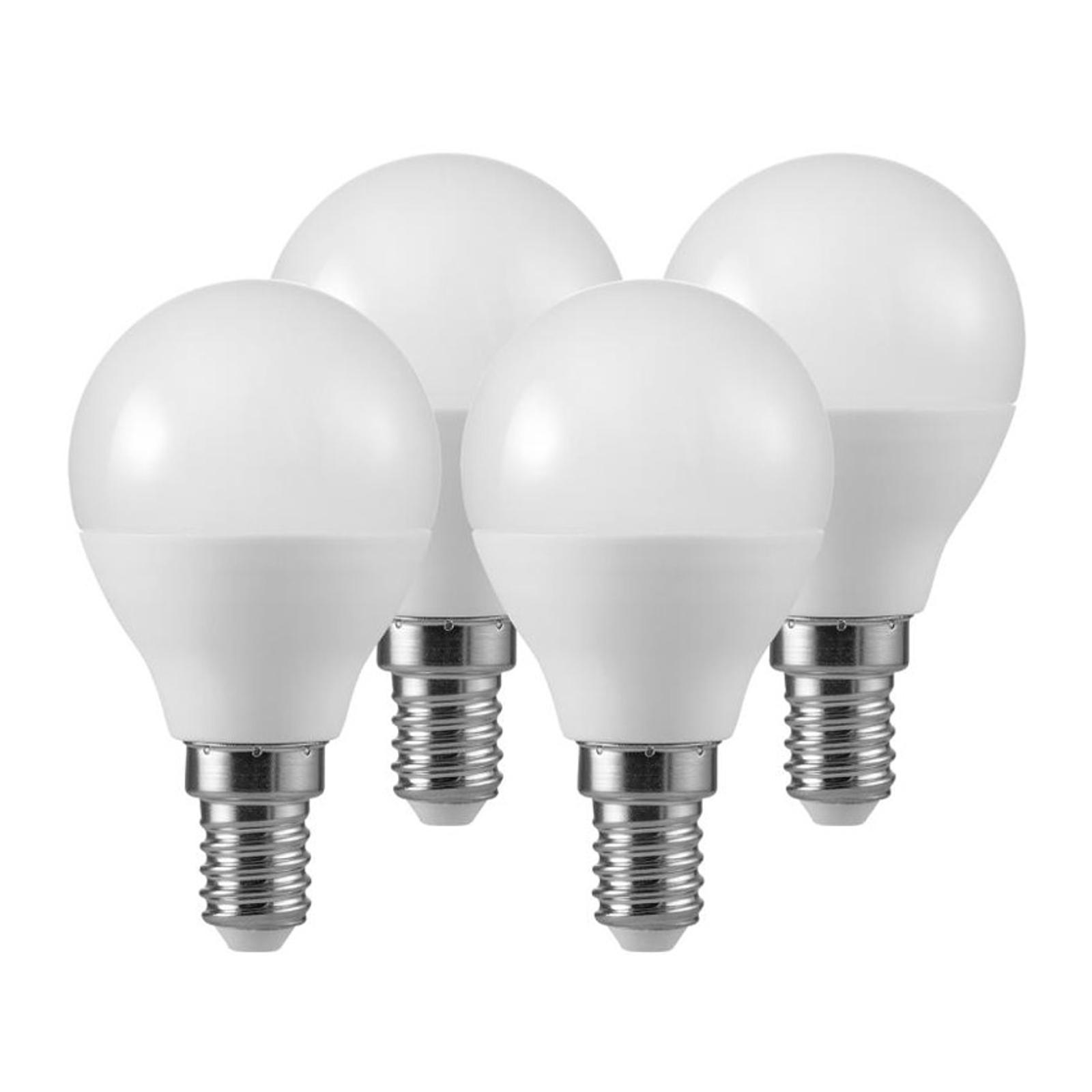 LED-golfpallolamppu E14 5,5W 2 700 K matt 3+1 set