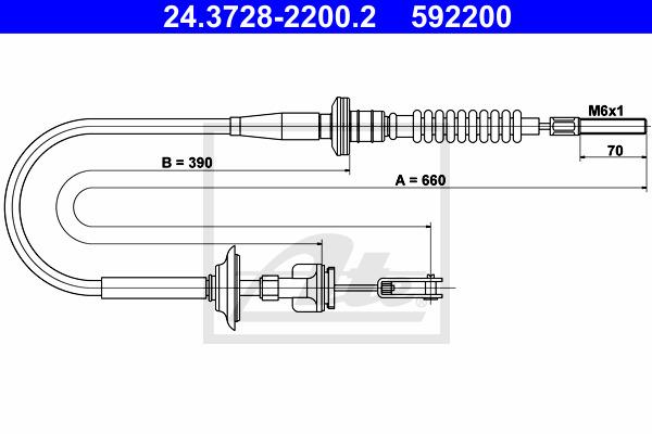 Kytkinvaijeri ATE 24.3728-2200.2