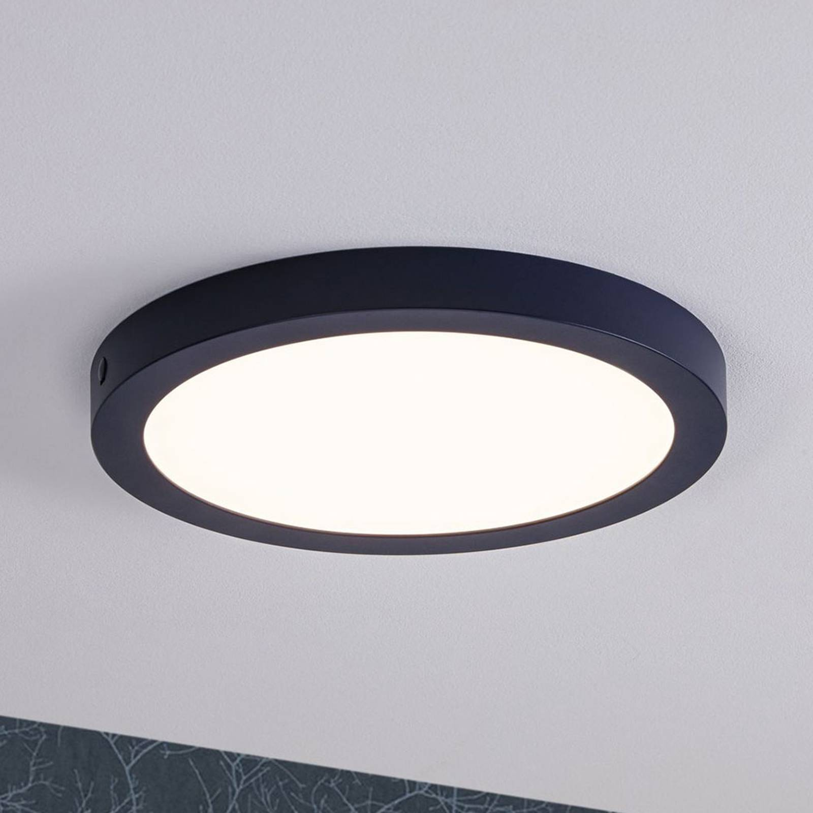 Paulmann-LED-paneeli Abia, pyöreä Ø 30 cm, sininen