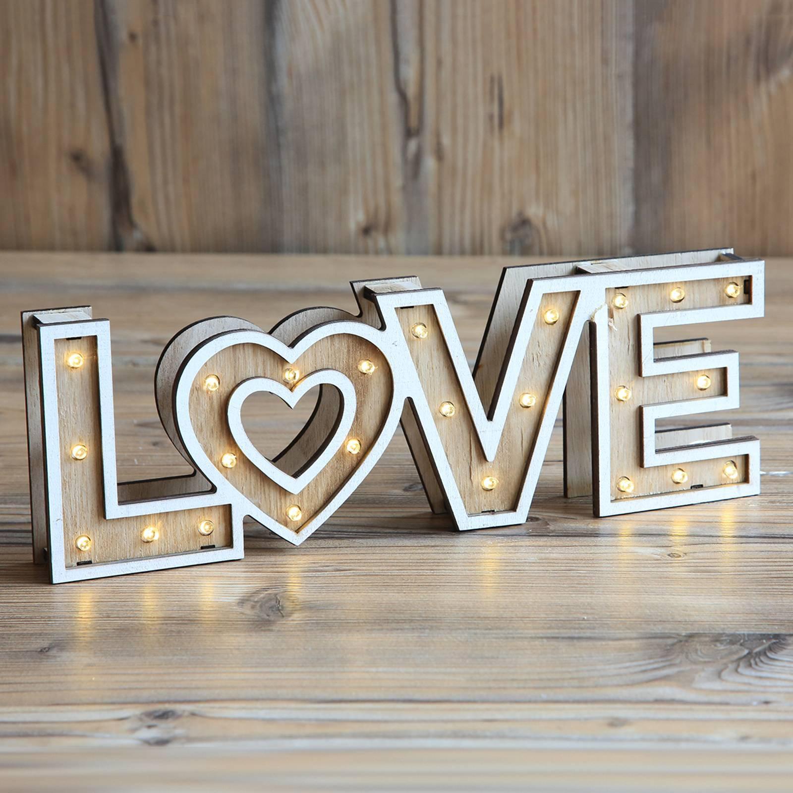 Aimi - LED-bordlampe m.batterier Love
