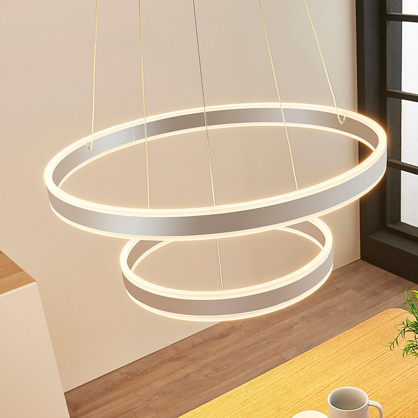 LED-riippuvalaisin Lyani, 2 rengasta allekkain