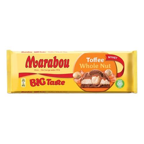 Marabou Big Taste Toffee Whole Nut Chokladkaka - 300 gram