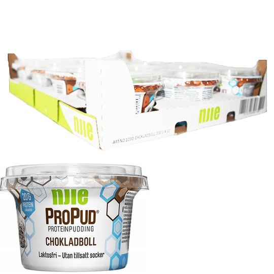 Hel Låda Proteinpudding Chokladboll 12 x 200g - 28% rabatt