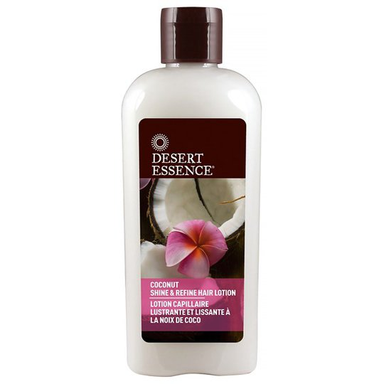 Desert Essence Coconut Shine & Refine Hair Lotion, 190 ml