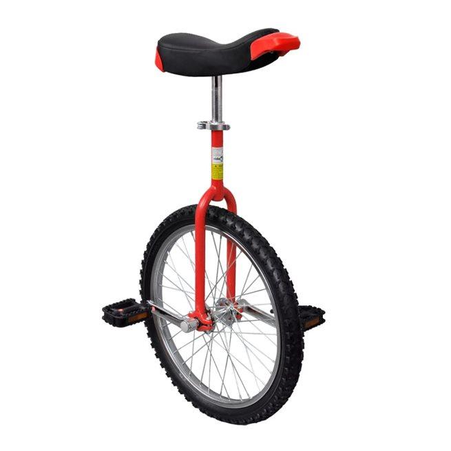 vidaXL Röd Justerbar Enhjuling 20 Tum
