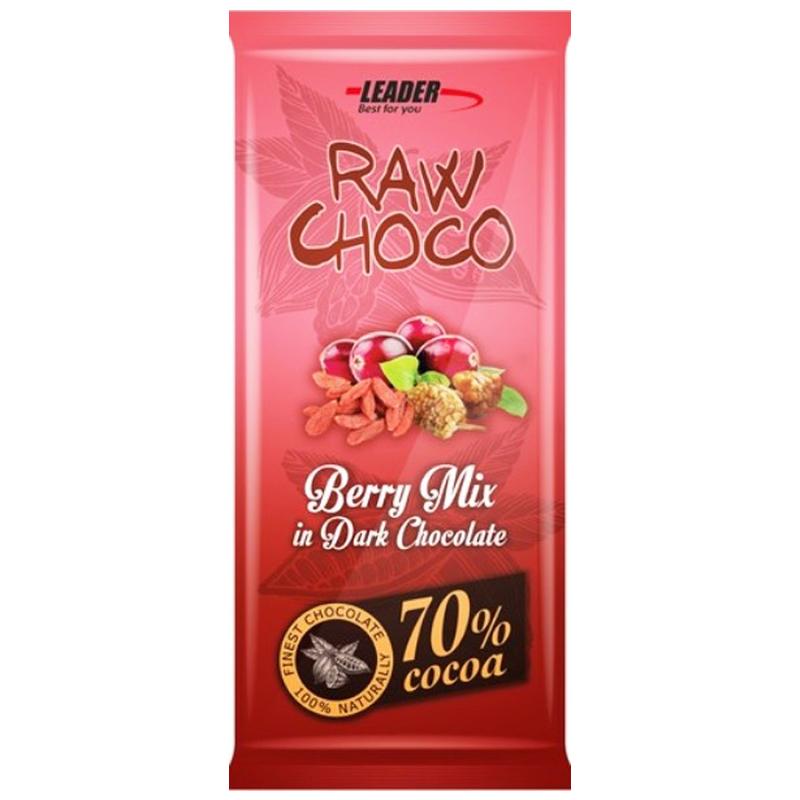 "Mörk Choklad ""Berry Mix"" 80g - 54% rabatt"