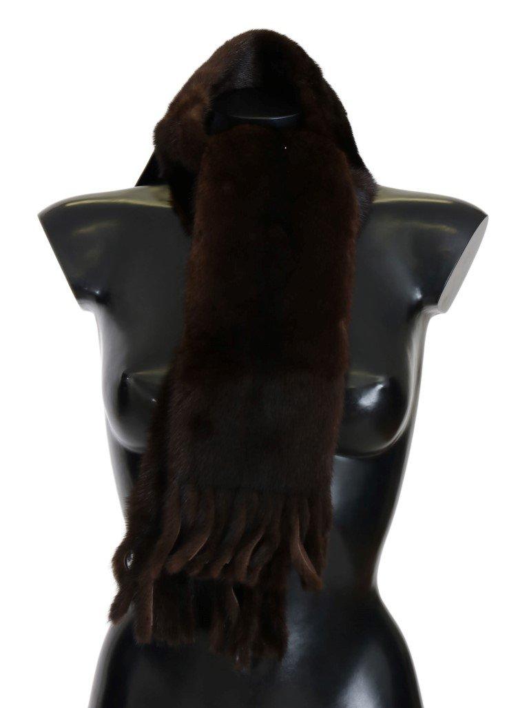 Dolce & Gabbana Women's Mink Fur Scarf Black MS1871