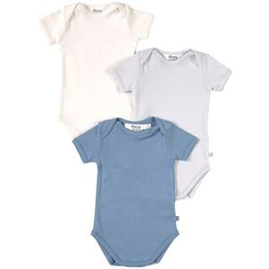 Bonpoint 3-Pack Baby Bodys Blå 1 mån