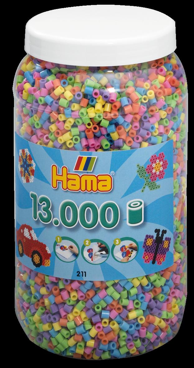 Hama Beads - Midi - Pastel Mix, 13.000 pcs (211-50)