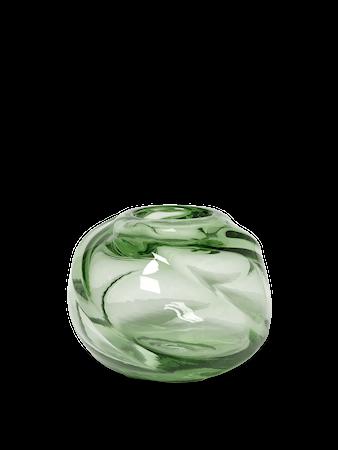 Water Swirl Vas Rund Recycled clear