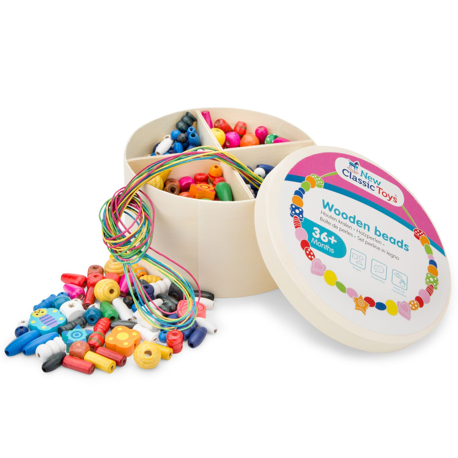 New Classic Toys - Wooden Beads 260 g (N10571)