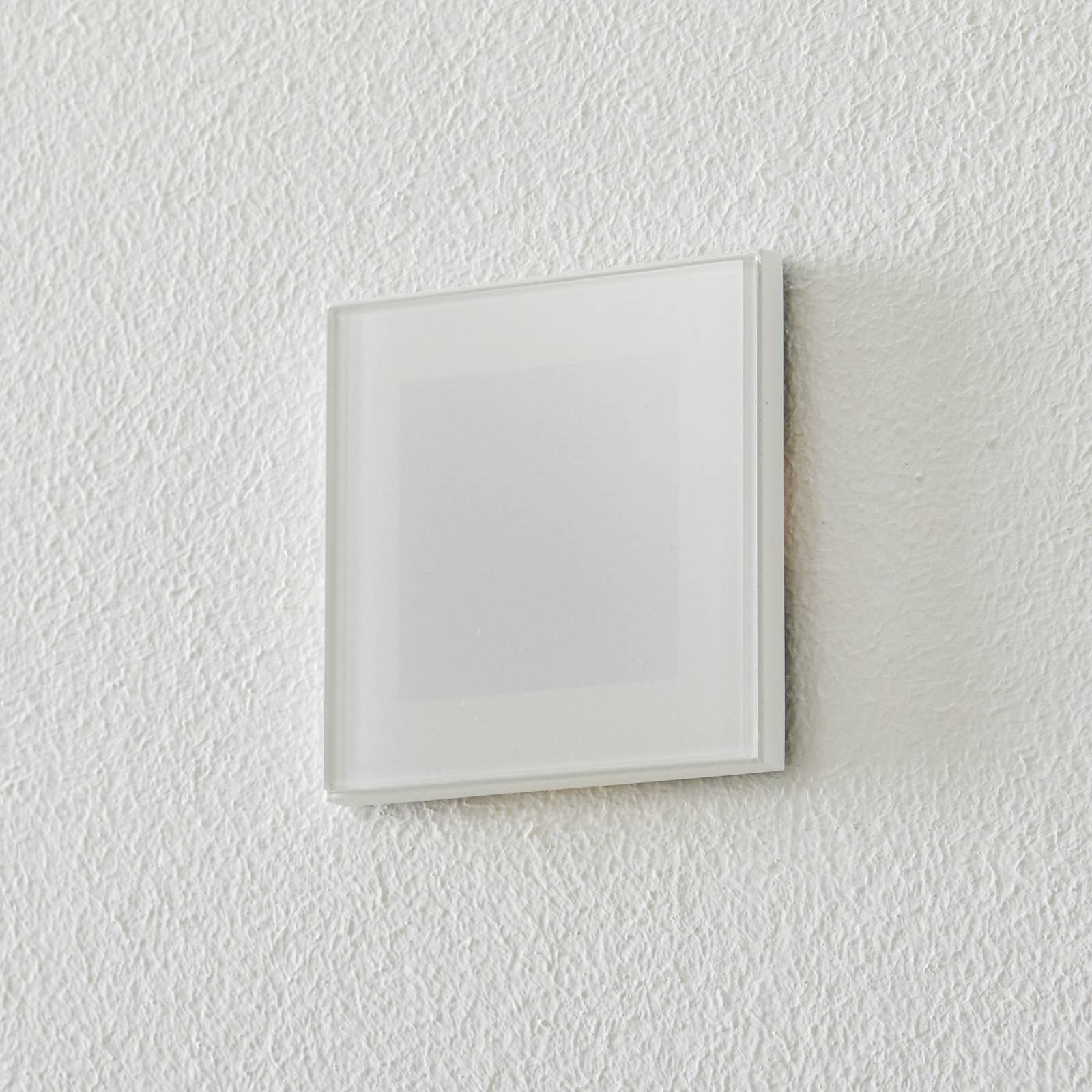 BEGA Accenta veggmontering kantet ring hvit 315lm