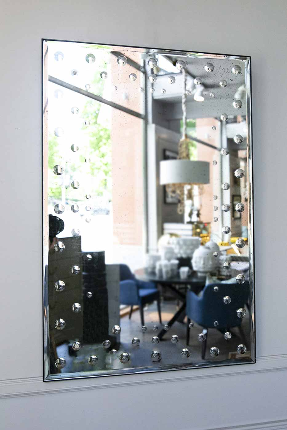 Spegel Bubbles rektangulär 91x61cm