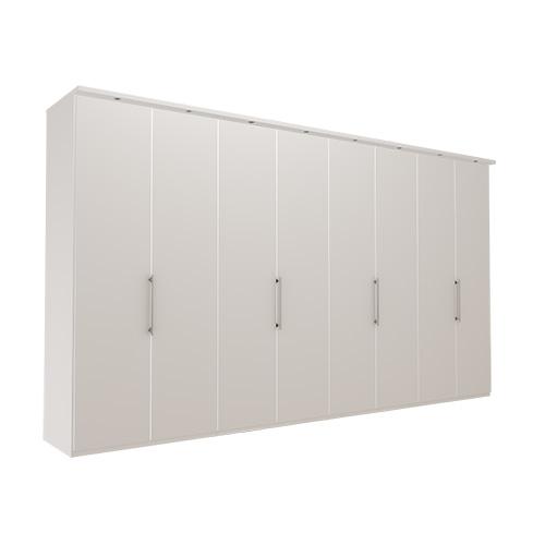 Garderobe Atlanta - Hvit 400 cm, 236 cm, Med gesims