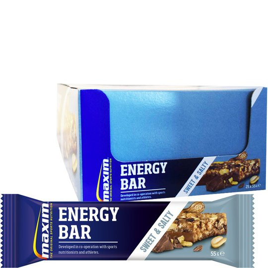 "Hel Låda Energibars ""Sweet & Salty"" 25 x 55g - 43% rabatt"