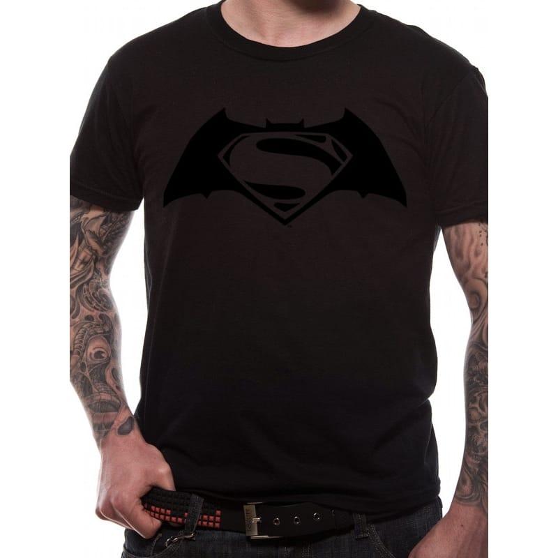 Batman vs Superman Black on Black T-Shirt