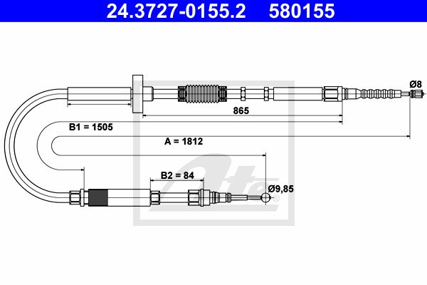 Käsijarruvaijeri ATE 24.3727-0155.2