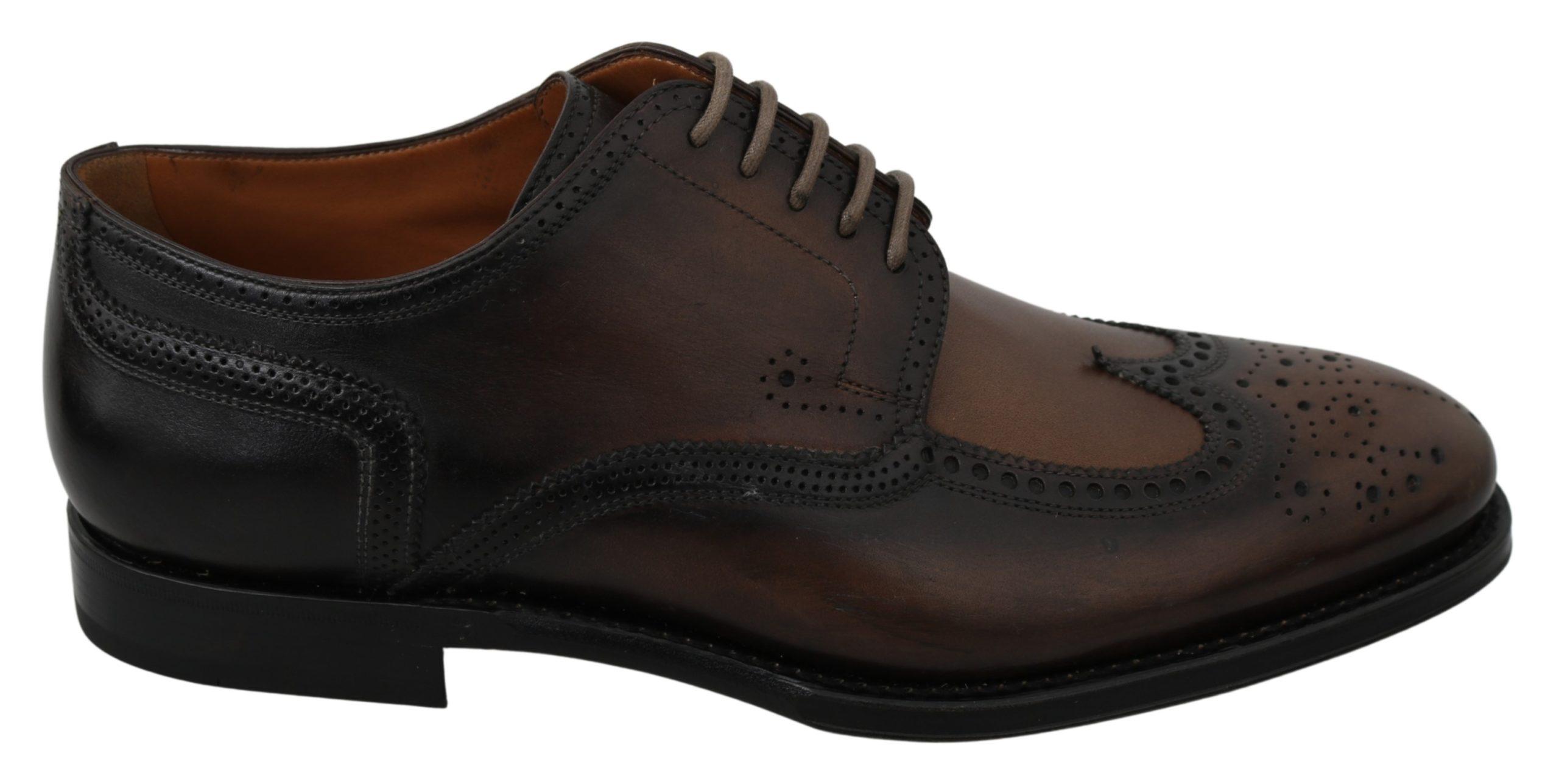 Dolce & Gabbana Men's Leather Formal Brogue Shoe Multicolor MV2887 - EU42/US9