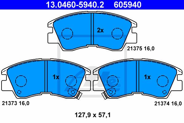 Jarrupalasarja, levyjarru ATE 13.0460-5940.2