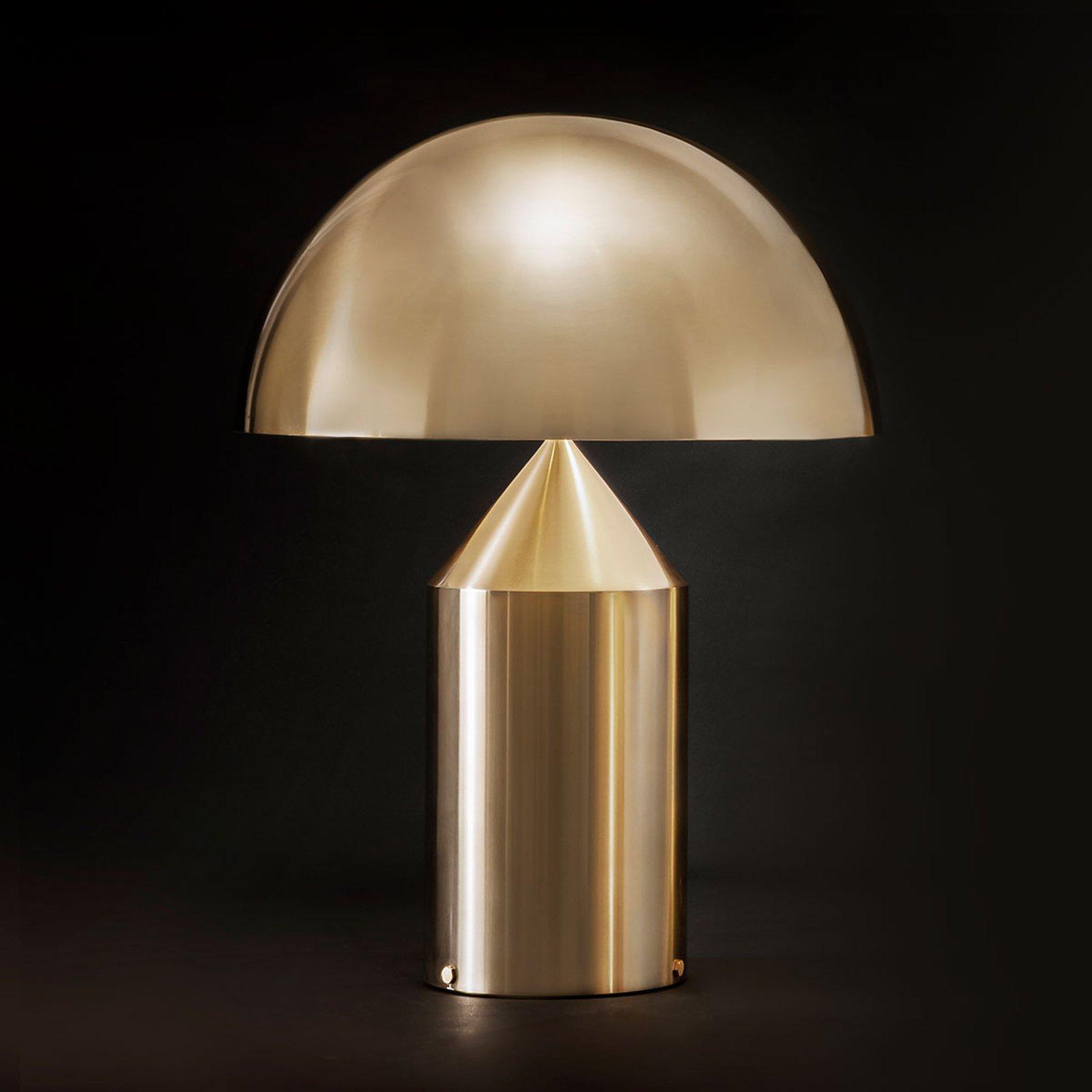 Design-bordlampe Atollo m. dimmer, gull