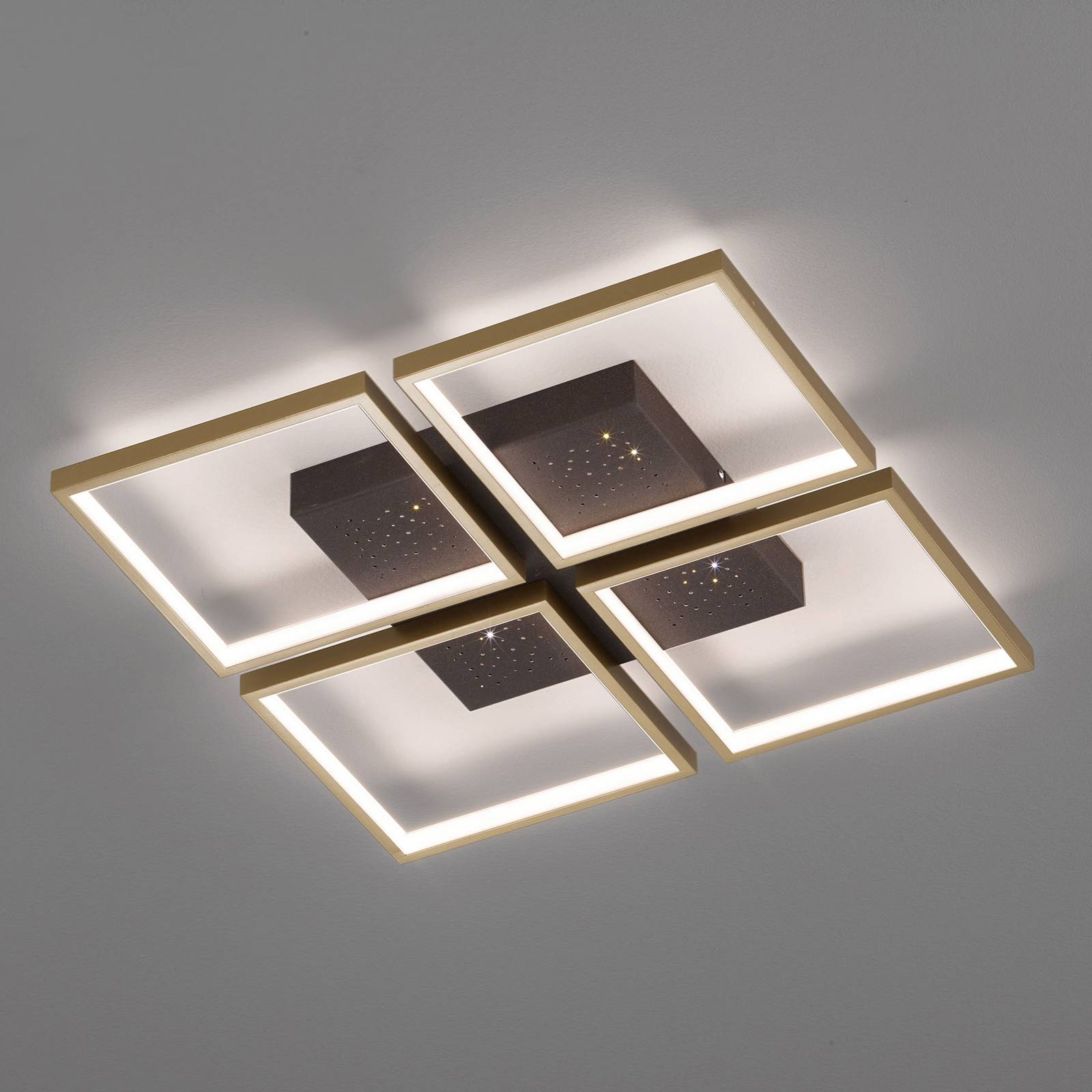 LED-kattovalaisin Pix, 4-lamppuinen, 54 x 54 cm