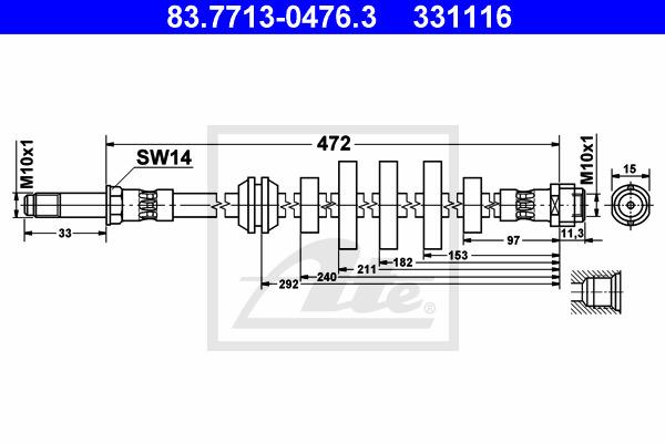 Jarruletku ATE 83.7713-0476.3